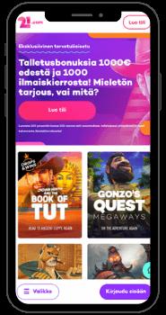 21.com – Pelaa mobiilissa