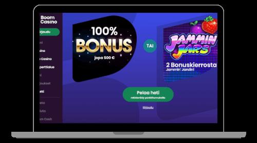 Boom Casino toivottaa pelaajat tervetulleeksi
