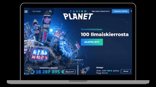 Casino Planet kutsuu pelaamaan