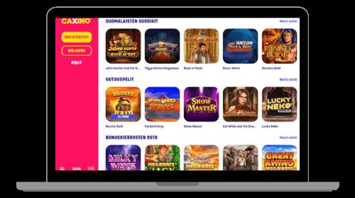 Caxino Casino tarjoaa loistavia peli kokemuksia