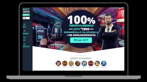 Jonny Jackpot casinon etusivu