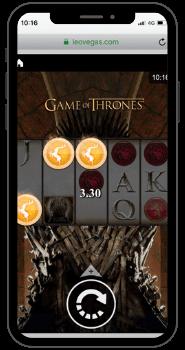 Game of Thrones kolikkopeli mobiilissa