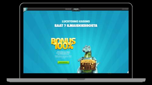 Lucky Dino casinon etusivu