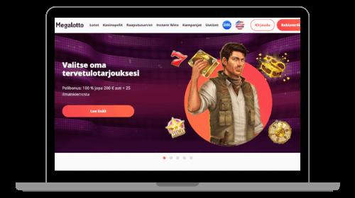 Megalotto tarjoaa sekä lotto että casino pelit