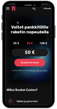 Rocket Casino –Pelaa mobiilissa